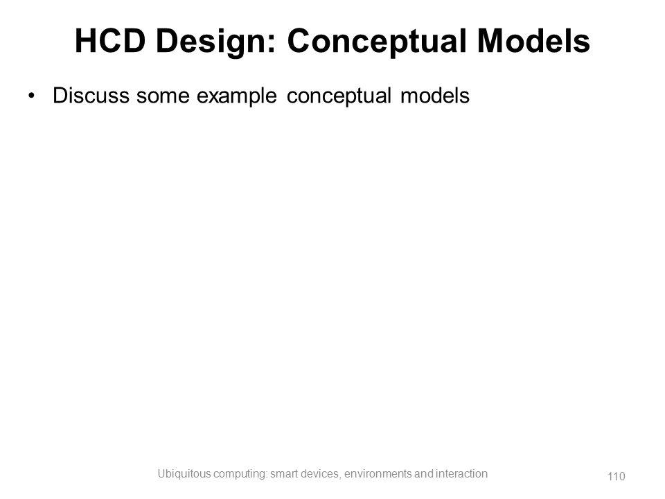 HCD Design: Conceptual Models