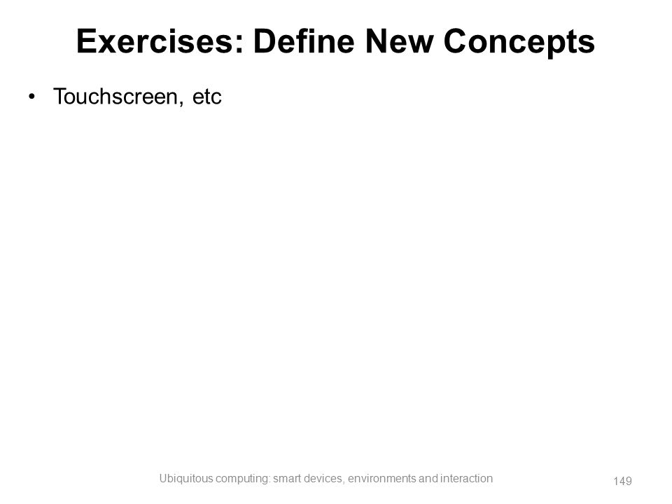 Exercises: Define New Concepts