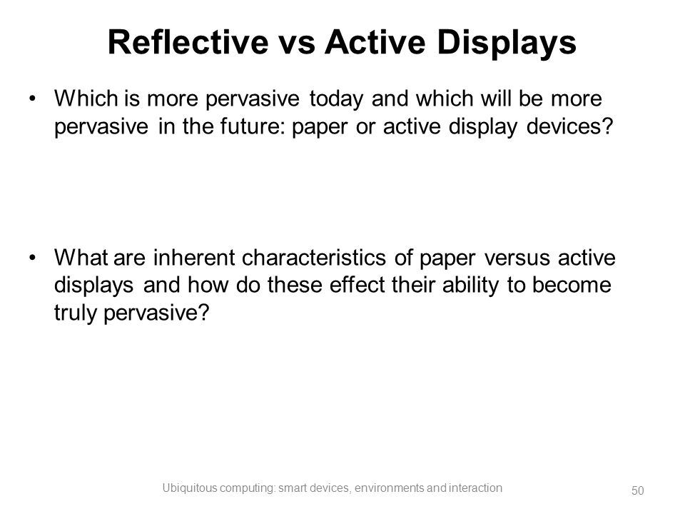 Reflective vs Active Displays