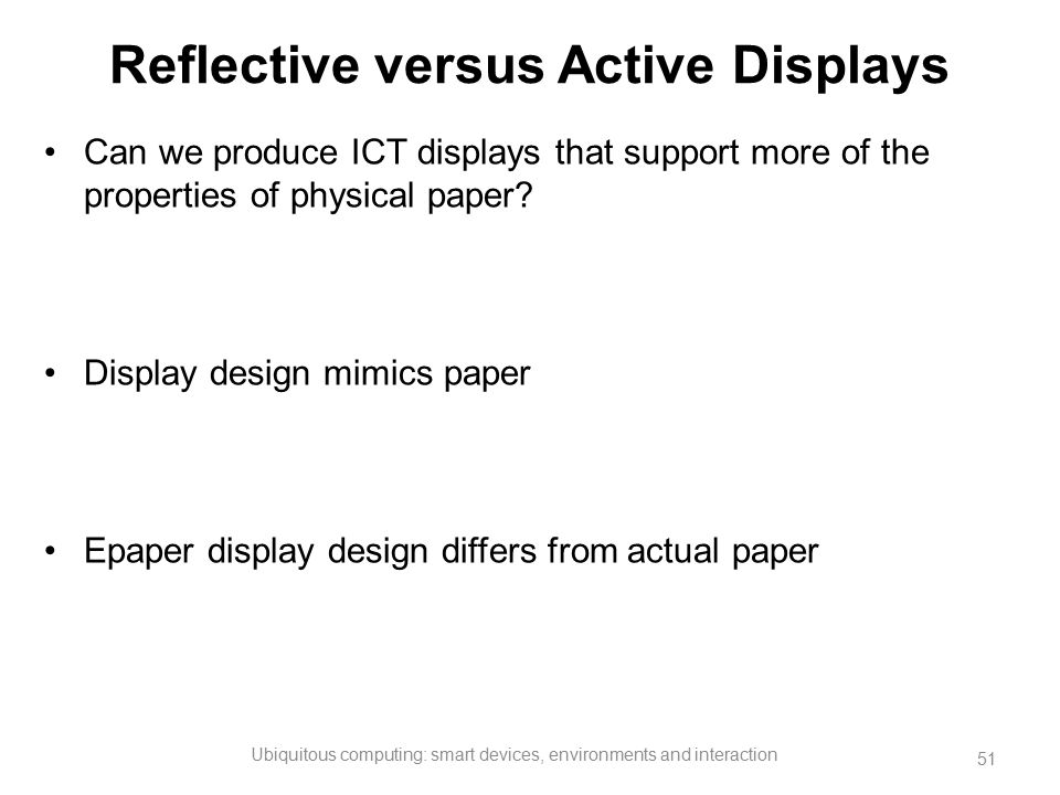 Reflective versus Active Displays
