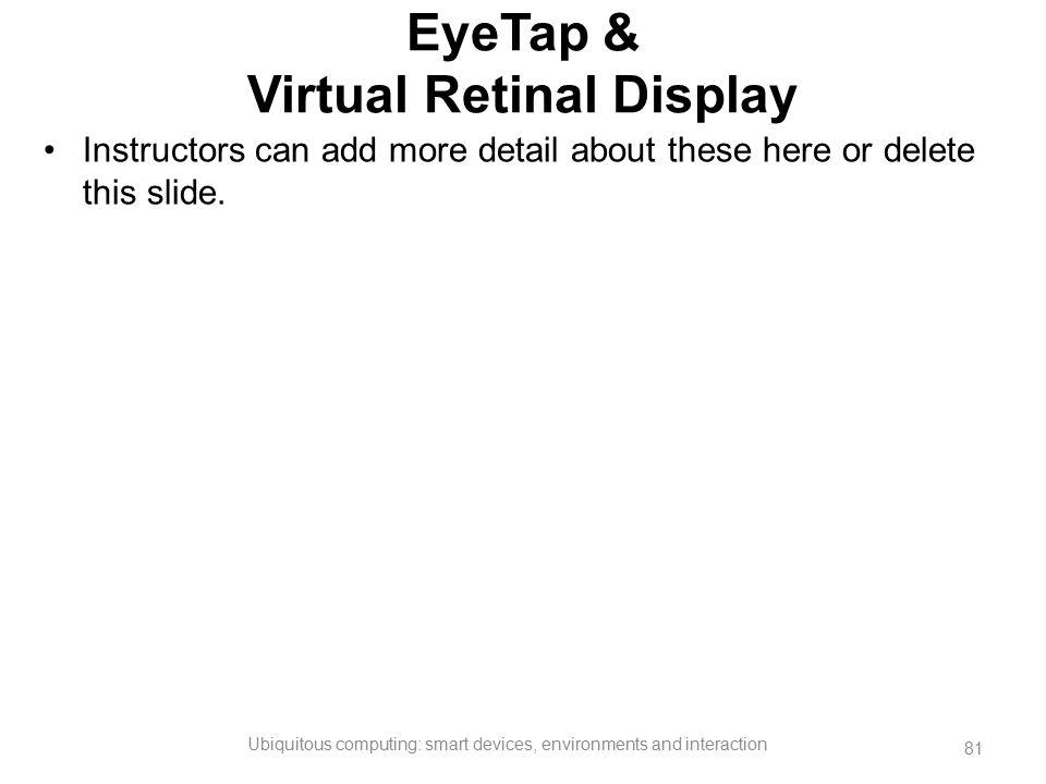 EyeTap & Virtual Retinal Display
