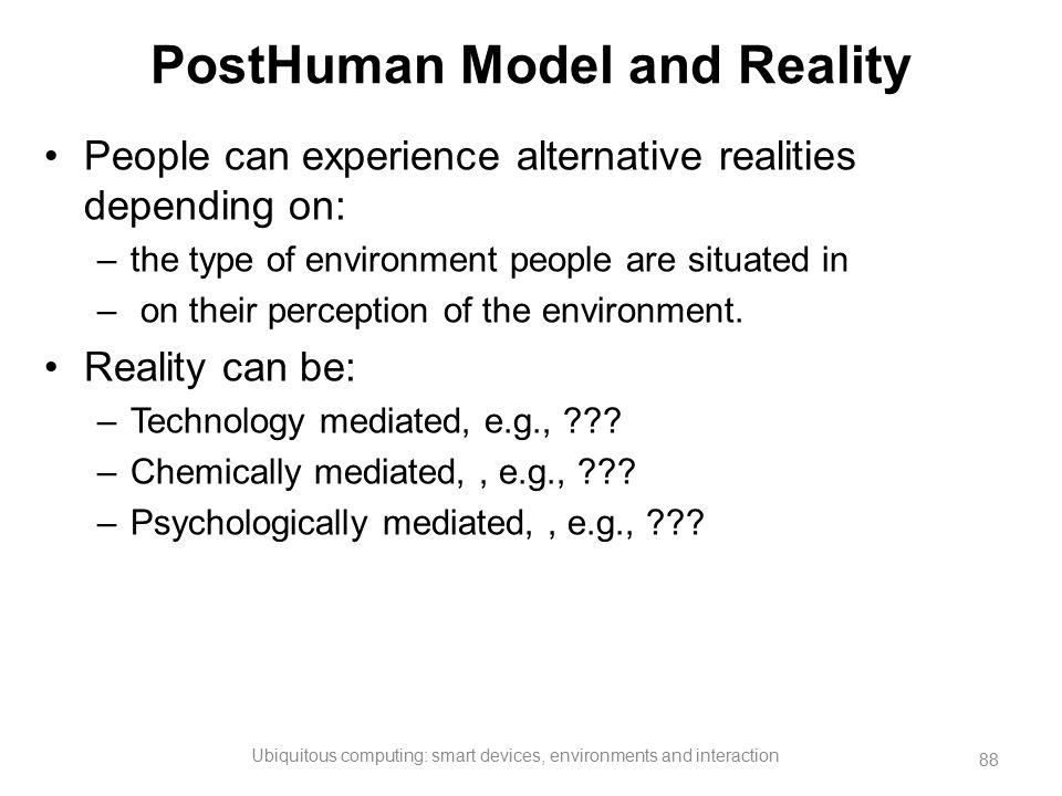 PostHuman Model and Reality
