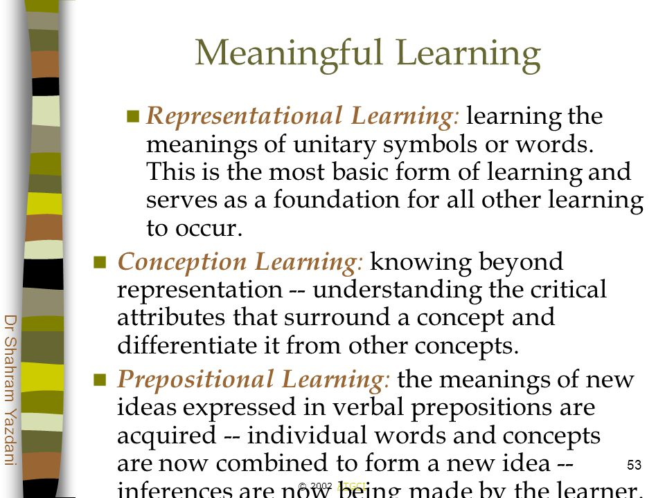 attributes of meaningful learning pdf