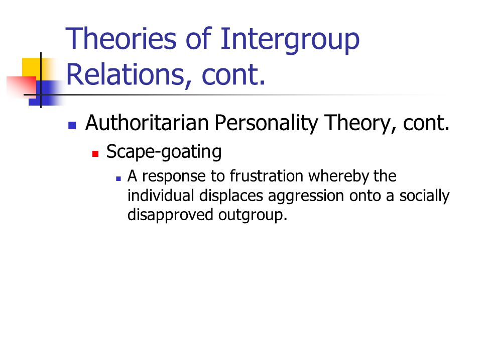 intergroup relations types of prejudice The study of intergroup relations has long been a staple in social science those who study intergroup relations have tended to focus upon the negative outcomes of intergroup relations, including prejudice and people around the world belong to many different types of.