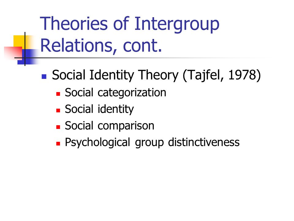 The theory of identity