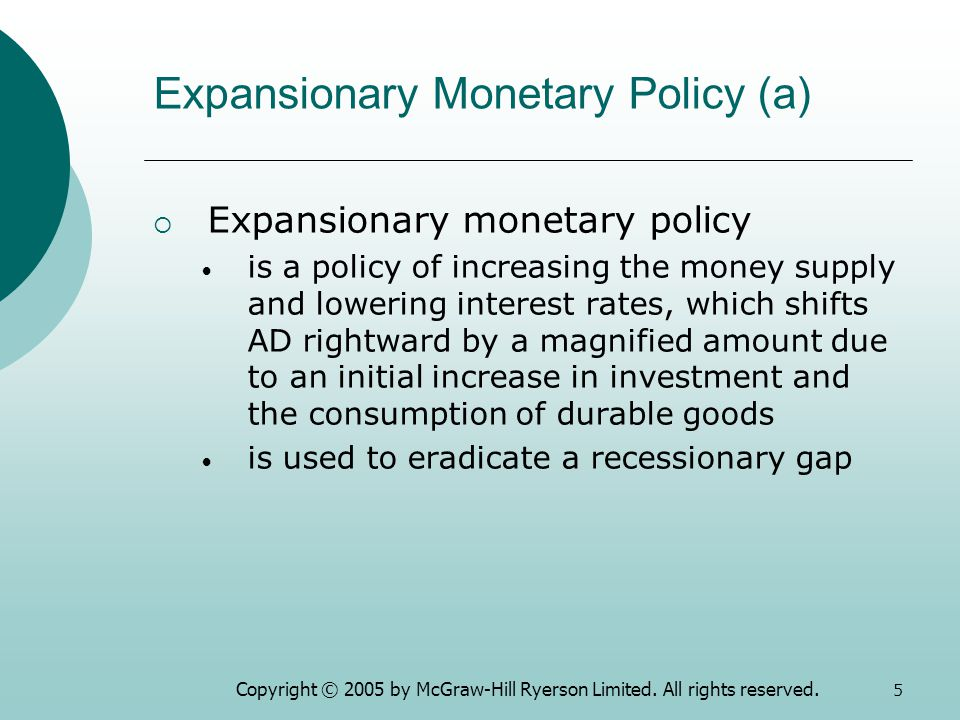 expansionary and contractionary monetary policy pdf
