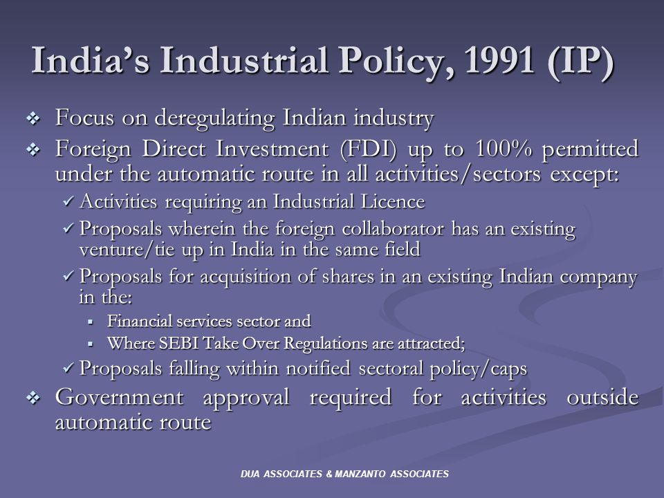 indian industrial policy after 1991 Statement on industrial policynew delhi, july 24, 1991policy objectivespandit jawaharlal nehru laid the foundations of modern india.