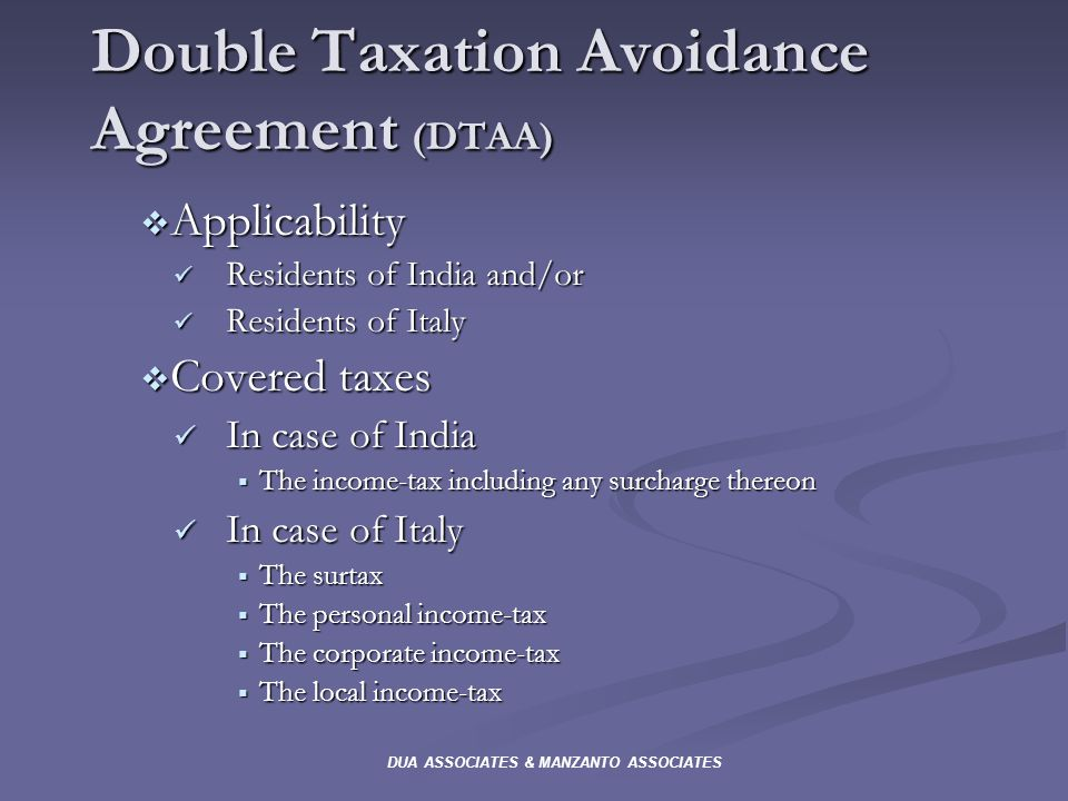 what is double tax avoidance agreement What are tax treaties what do to as tax conventions or double tax agreements contrary to the terms of a tax treaty prevent avoidance and evasion of taxes on.
