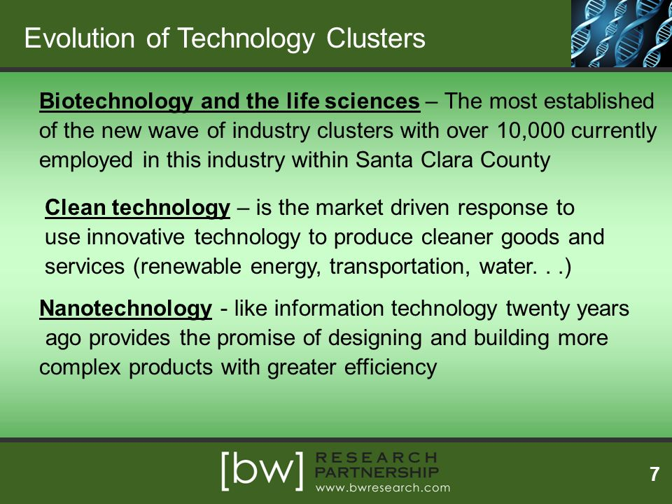 Evolution of Technology Clusters