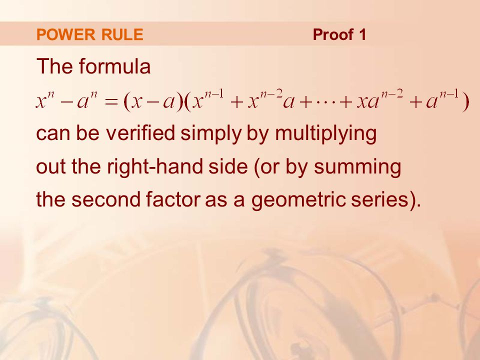 POWER RULE Proof 1.