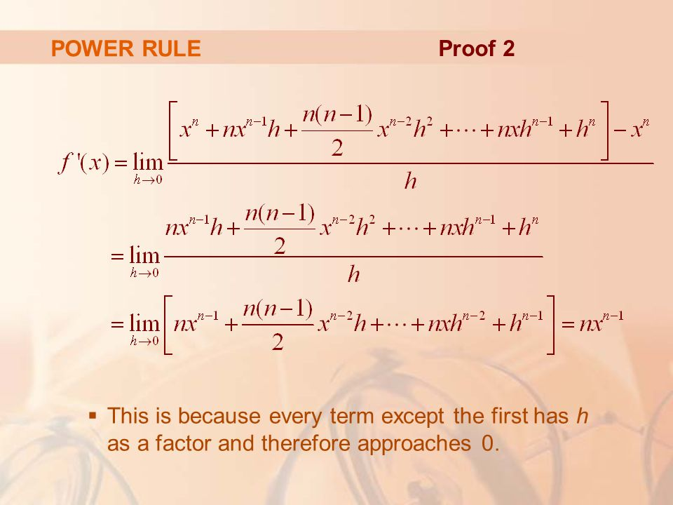 POWER RULE Proof 2.