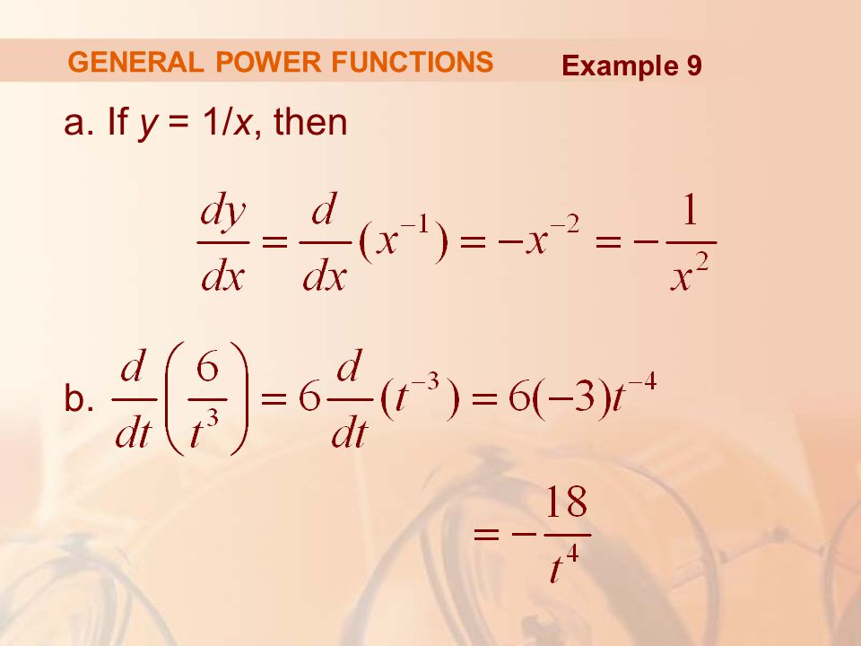 GENERAL POWER FUNCTIONS