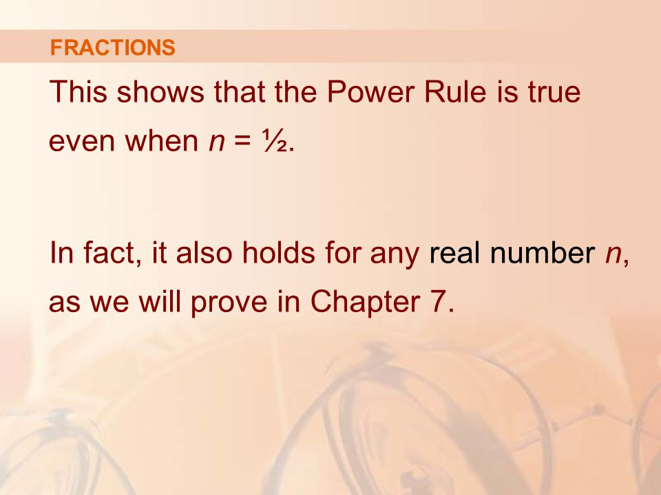 This shows that the Power Rule is true even when n = ½.