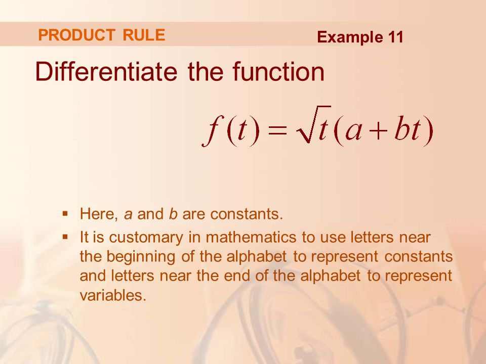 Differentiate the function