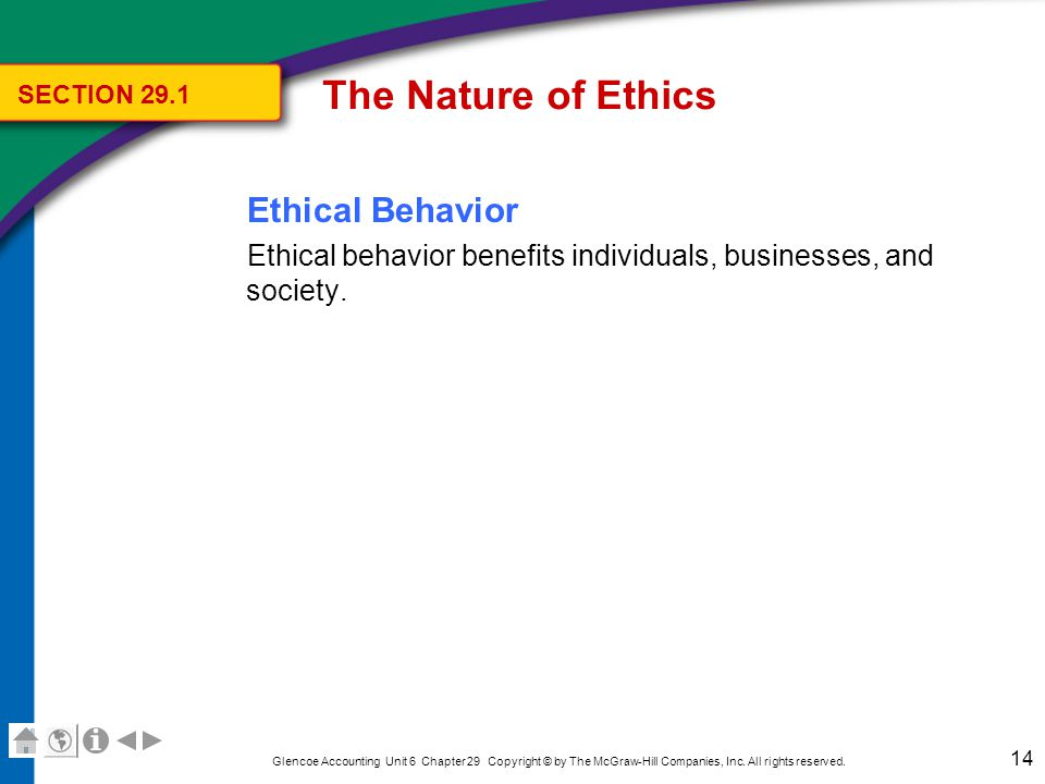 The Nature of Ethics Individuals