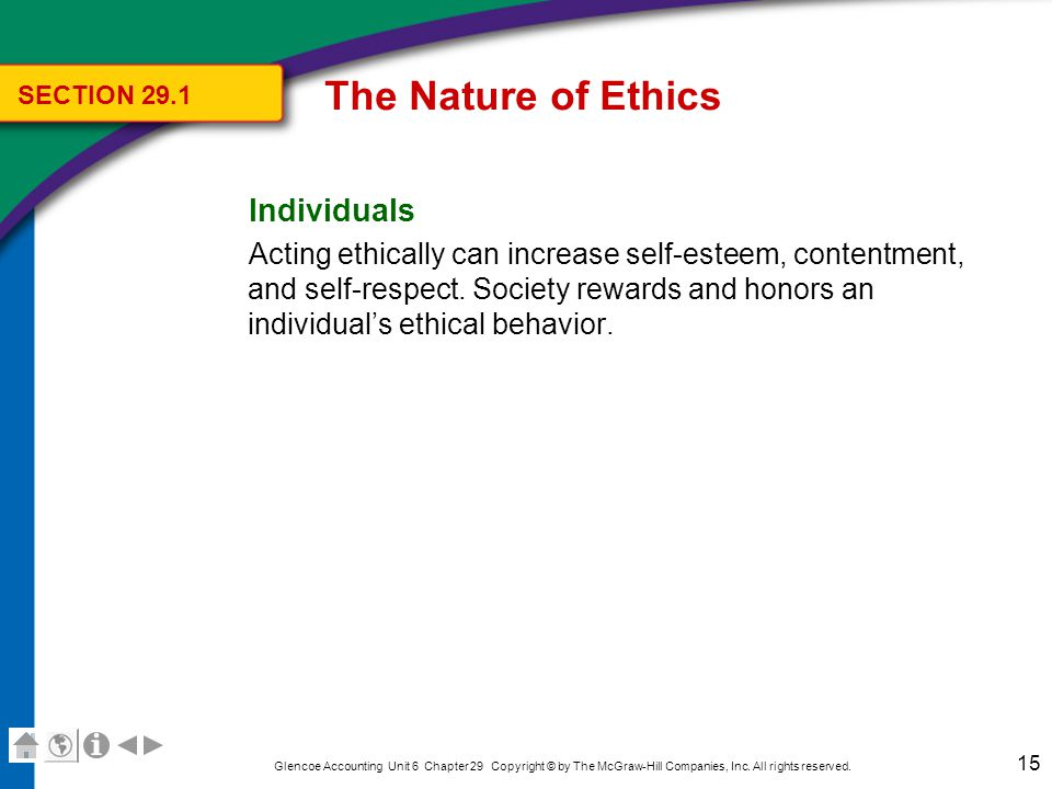 The Nature of Ethics Businesses