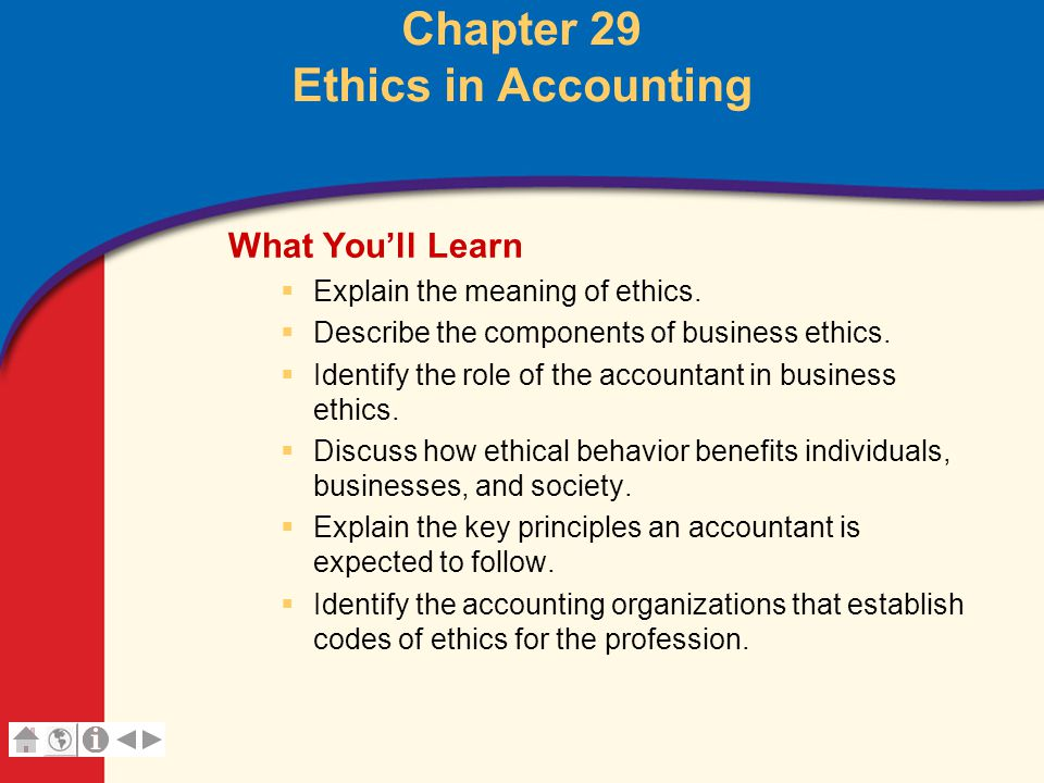 Chapter 29 Ethics in Accounting