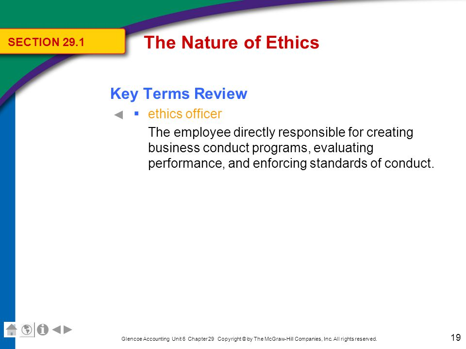 Chapter 29, Section 2 Ethics in the Accounting Profession