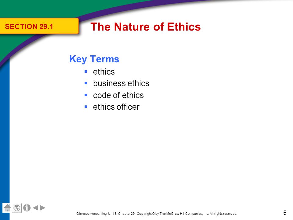 The Nature of Ethics Ethics