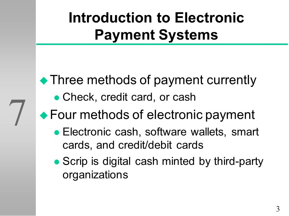 Checkpoint analysis of electronic payment systems