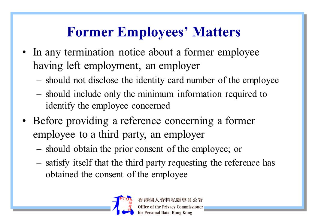 Former Employees' Matters