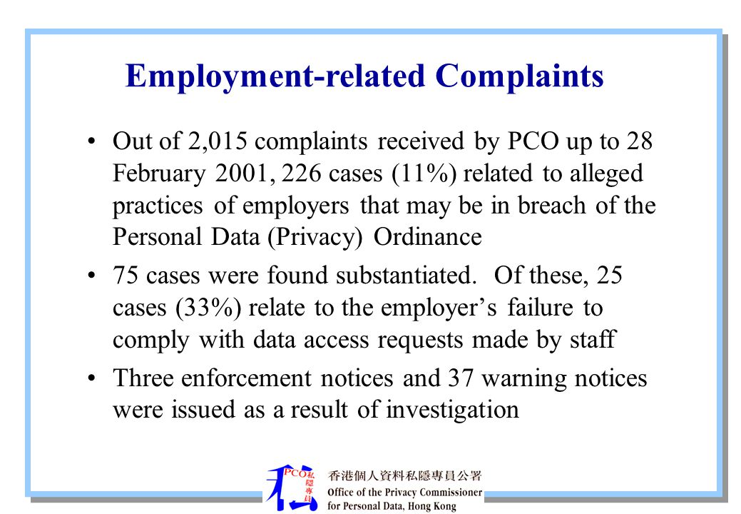 Employment-related Complaints