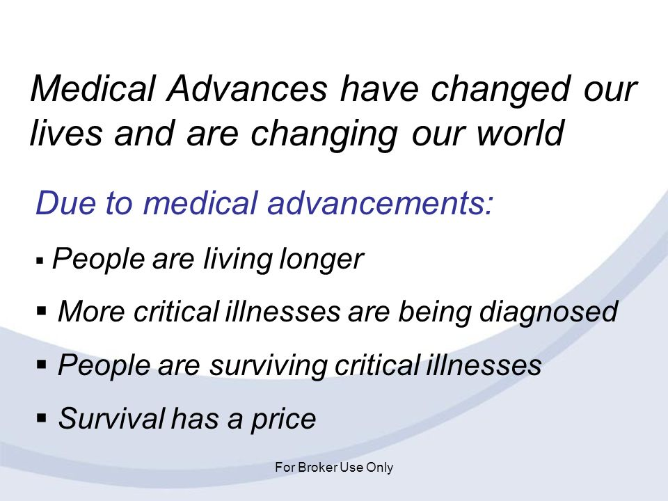 Medical Advances have changed our lives and are changing our world