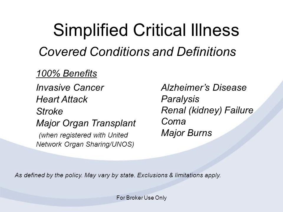 Simplified Critical Illness