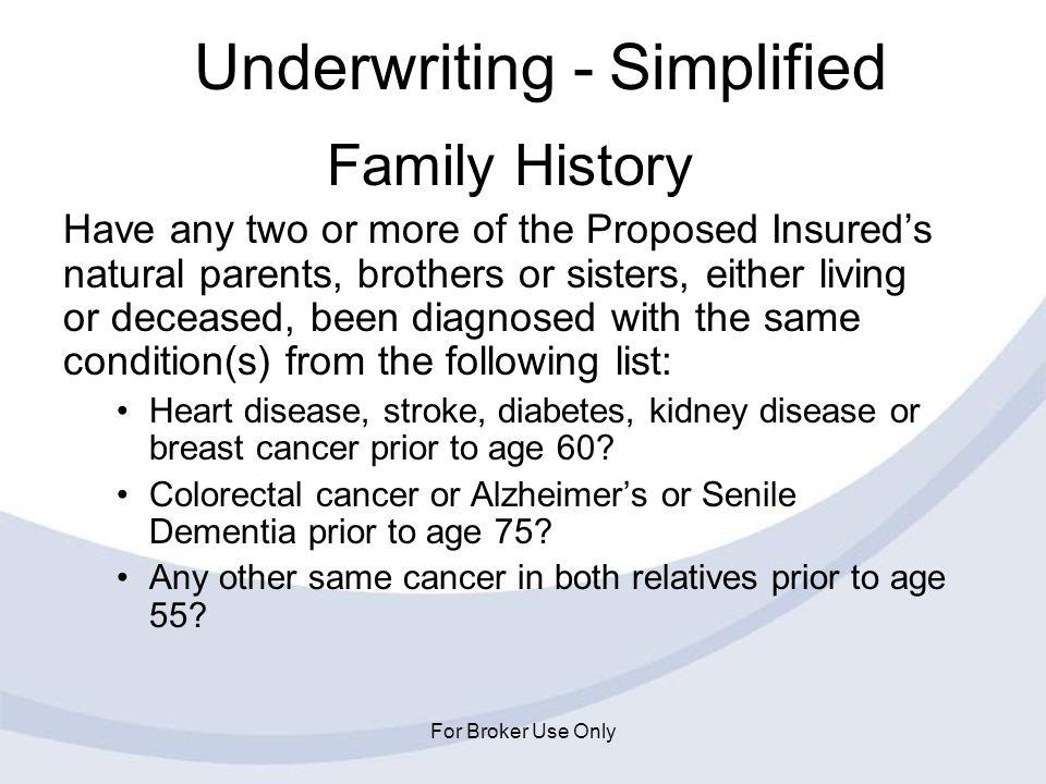 Underwriting - Simplified