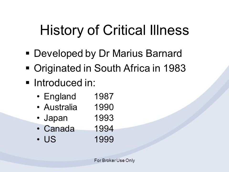 History of Critical Illness