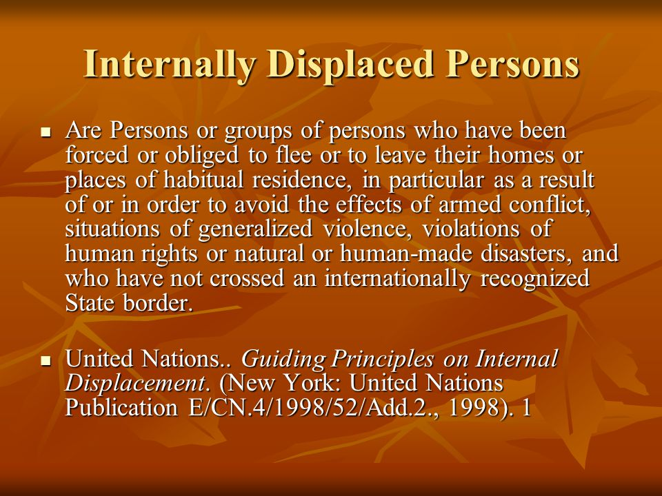 Refugees and Internally Displaced Persons - ppt video ...