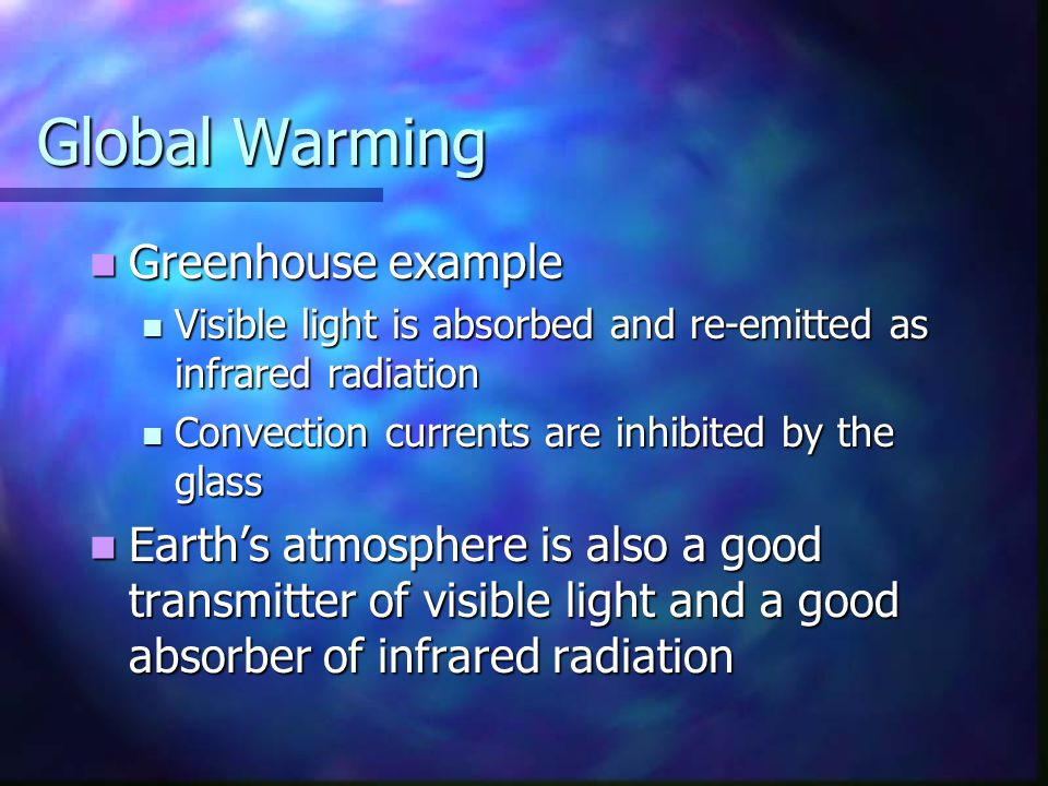 Global Warming Greenhouse example