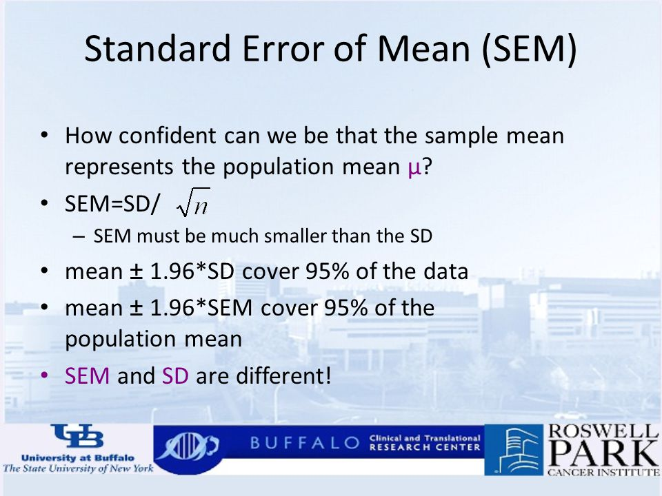 how to calculate mean sem