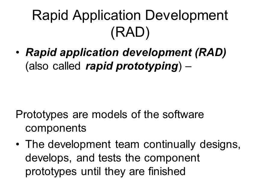 rapid application development rad the new Rapid application development (rad) is a new rapid development, high quality and lower costs go hand-in-hand if an appropriate development methodology is used [2.