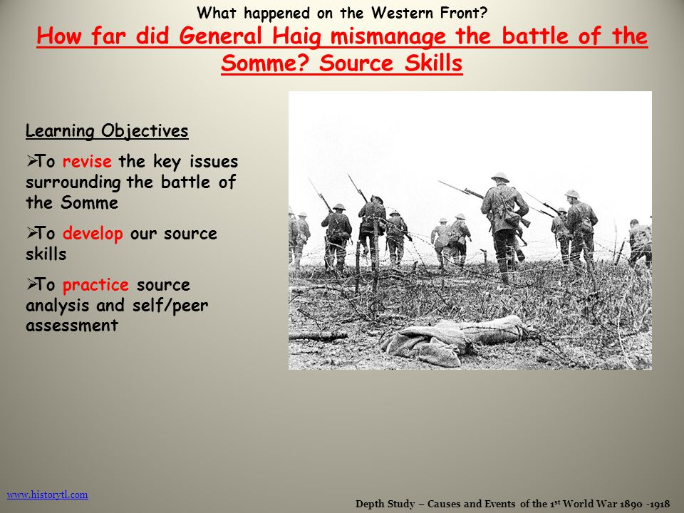 "Did General Haig Deserve the Title ""butcher of the Somme""?"