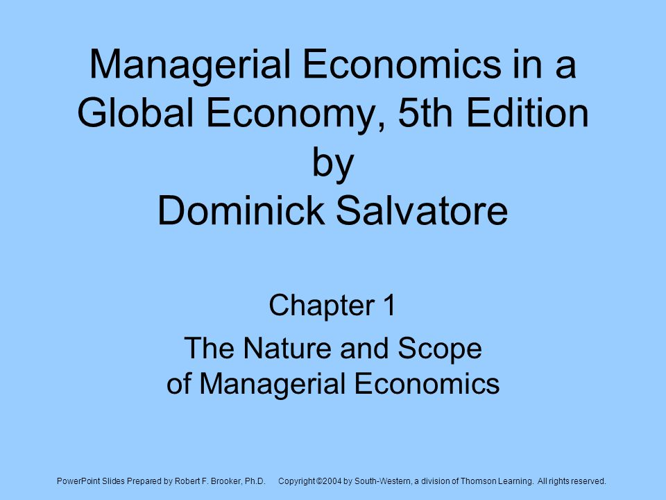 the nature and scope of managerial Nature and scope of managerial economics  the scope of managerial economics is a continual process,  it provides optimal solutions to managerial decision.