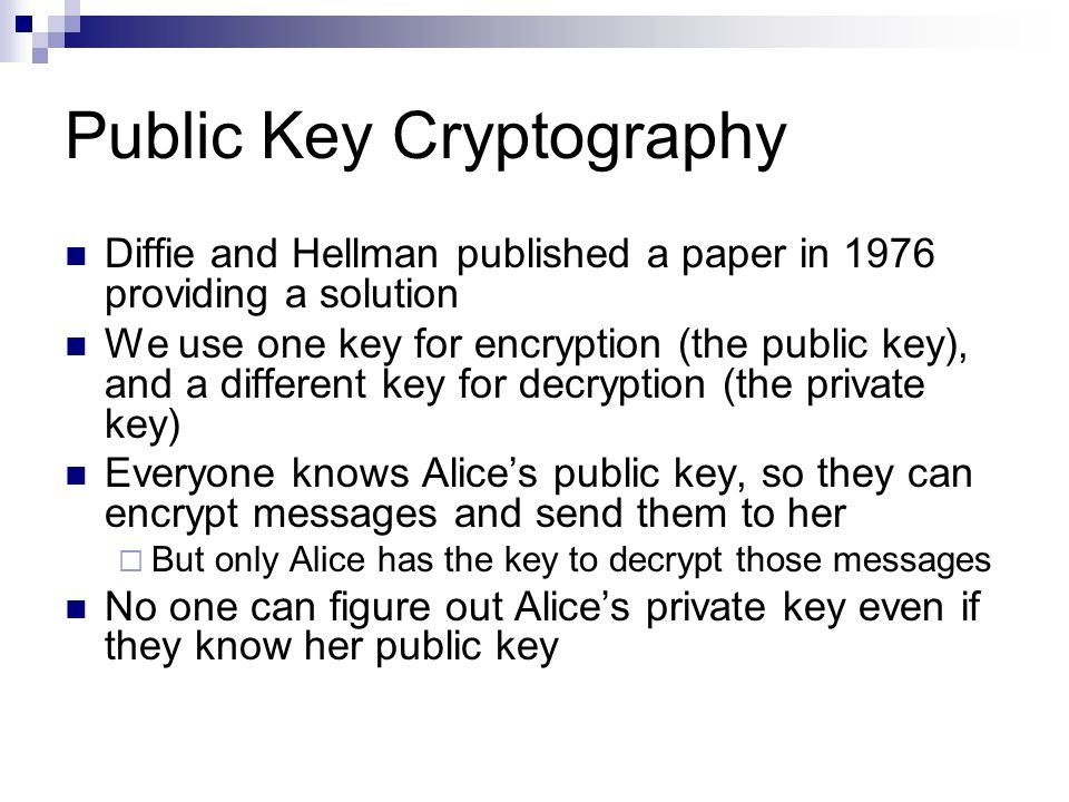 public key cryptography research papers In 1976 diffie and helman invented new encryption technique called public key encryption the science of information security survey paper: cryptography.