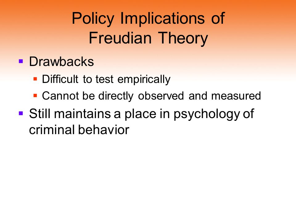 Policy Implications of Freudian Theory