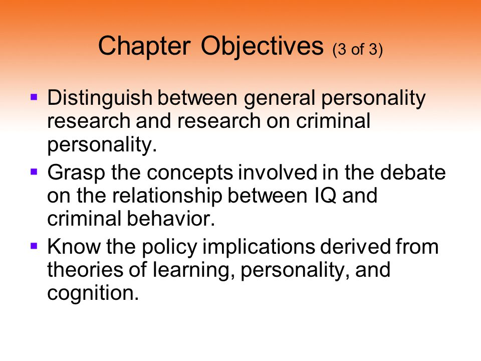 relationship between personality and crime