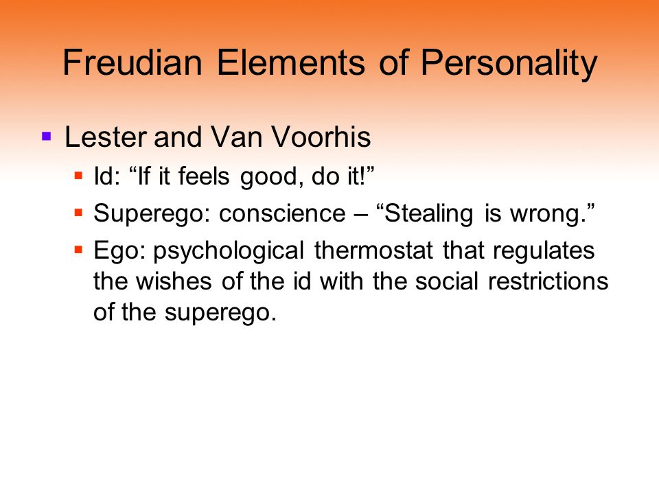 Freudian Elements of Personality