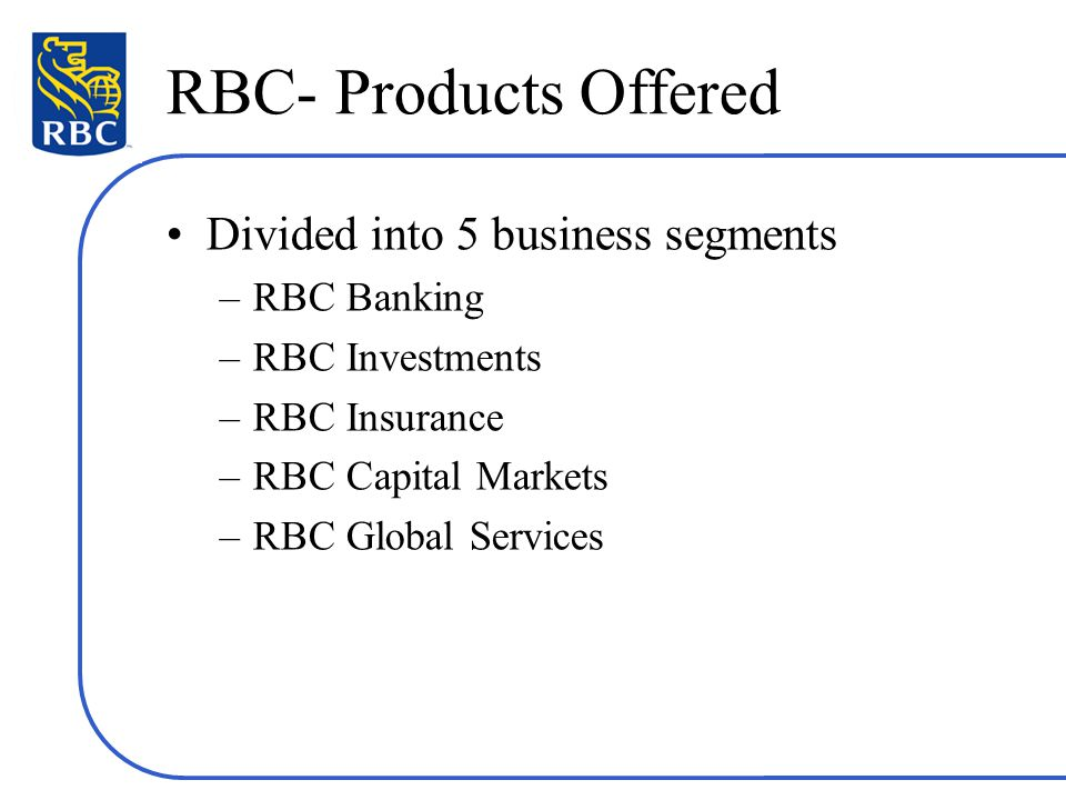 Canadian Chartered Banks – Example of RBC - ppt video online download