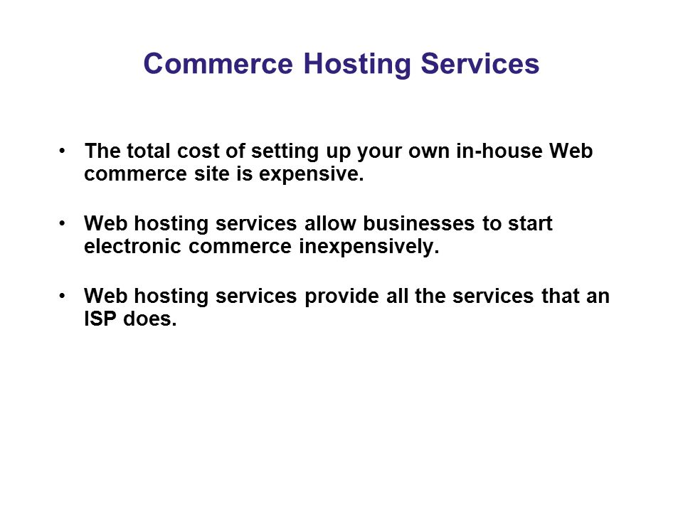Commerce Hosting Services