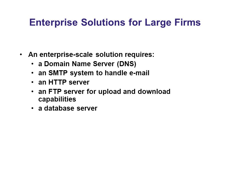Enterprise Solutions for Large Firms
