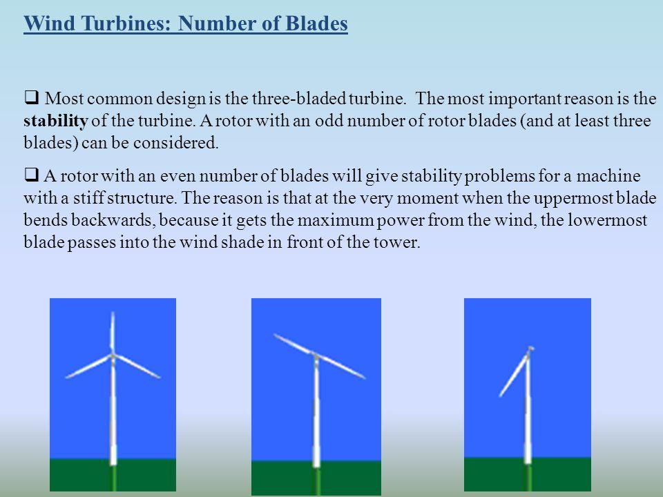 Wind Turbines: Number of Blades