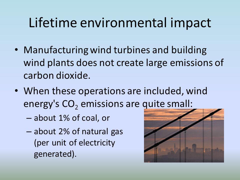 Lifetime environmental impact