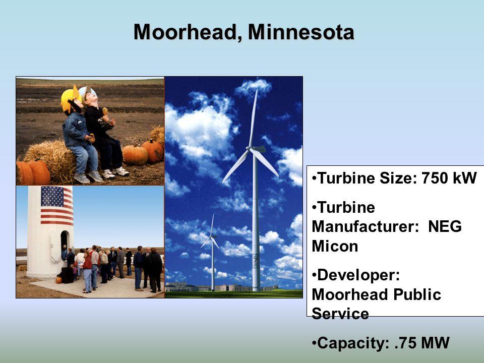Moorhead, Minnesota Turbine Size: 750 kW