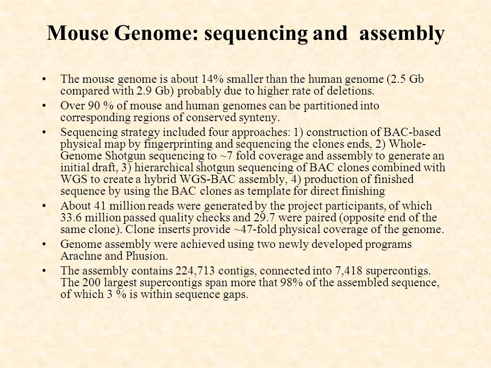 The Opposite Of Assembly : Lecture genome sequencing projects ppt video online