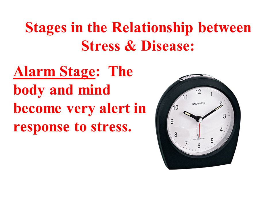 Stages in the Relationship between Stress & Disease: