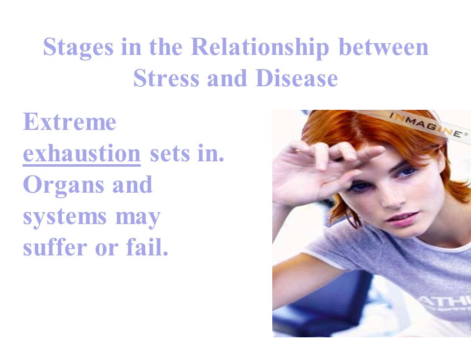 Stages in the Relationship between Stress and Disease
