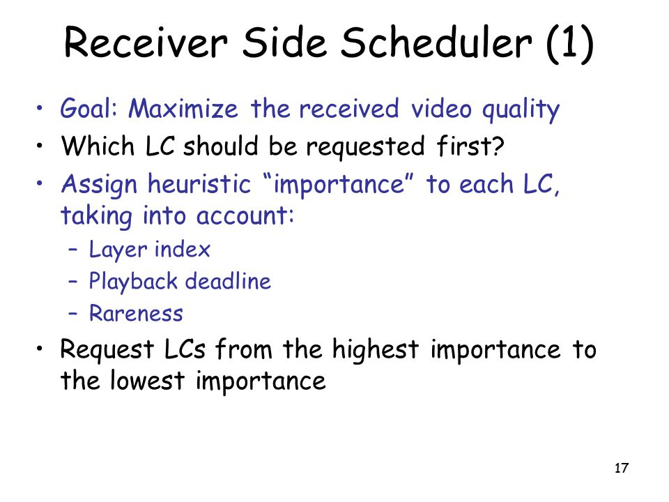 Receiver Side Scheduler (1)